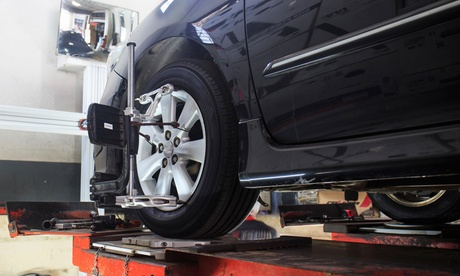 Wheel Alignment and Tracking Check with Optional MOT at Venus Motors