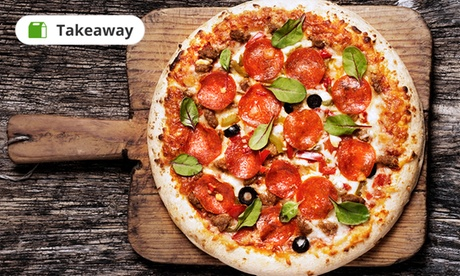 """Choice of 10"""" Pizza with Soft Drink for One or Two at Hut Grills (Up to 8% Off)"""