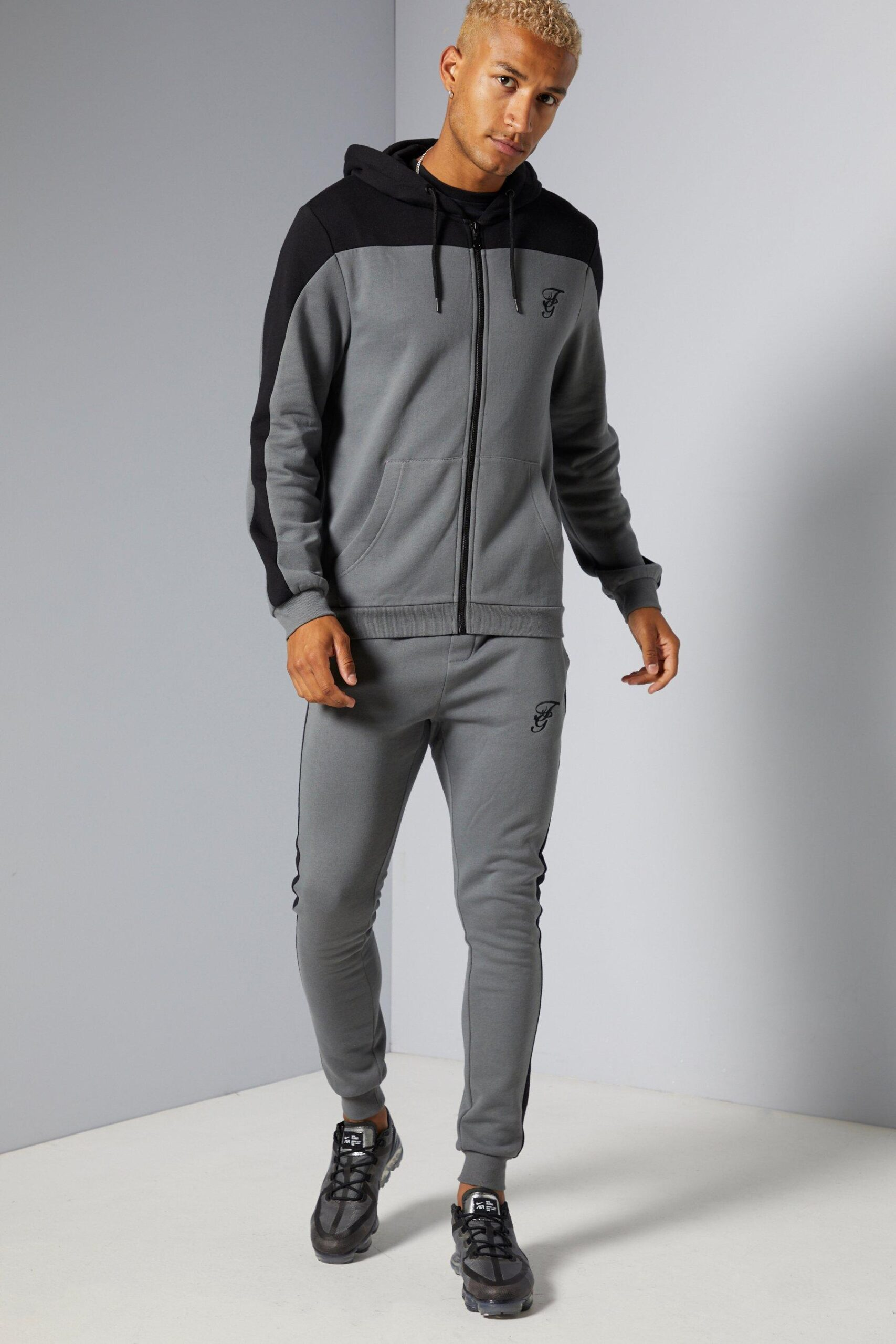 Grey Cut and Sew Tracksuit