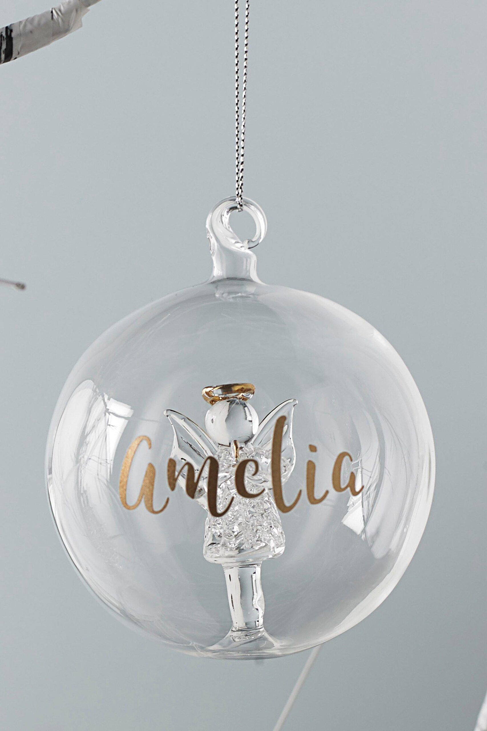 Personalised Glass Angel Decoration