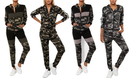 Two-Piece Camouflage Tracksuit
