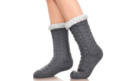 One or Two Pairs of Women's Cosy Home Slipper Socks