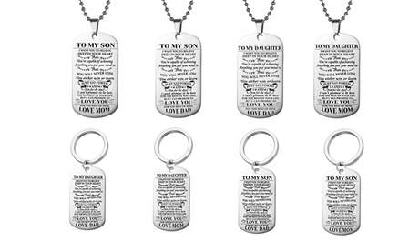 To Son or Daughter Keychain or Necklace